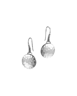 John Hardy - Palu Silver Round Drop Earrings
