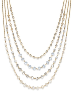 INC International Concepts  - White Stone Multi-Strand Necklace