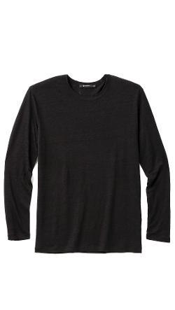 T By Alexander Wang  - Long Sleeve Linen T-shirt