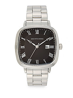 Saks Fifth Avenue  - Square Stainless Steel Watch