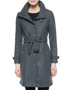 Burberry Brit - Single-Breasted Wool-Blend Trenchcoat