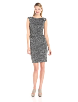 Vince Camuto - Embellished Shoulder Sheath Dress