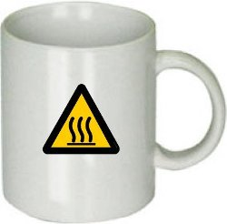 True Home Comfort - Warning Sign On Ceramic Coffee Mug