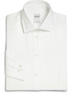 Armani Collezioni  - Slim-Fit Solid Sportshirt