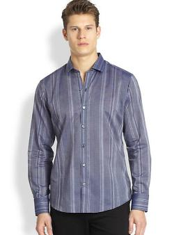Zachary Prell  - Boyd Striped Sport Shirt