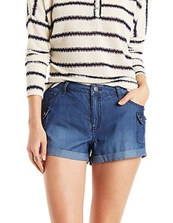 Charlotte Russe - Chambray Cargo Shorts