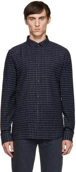 A.P.C. - Navy & White Steven Shirt