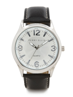 Perry Ellis International - Leather Band Watch