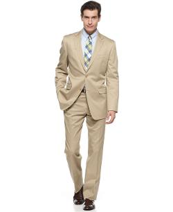 Lauren by Ralph Lauren  - Suit Tan Cotton Slim Fit