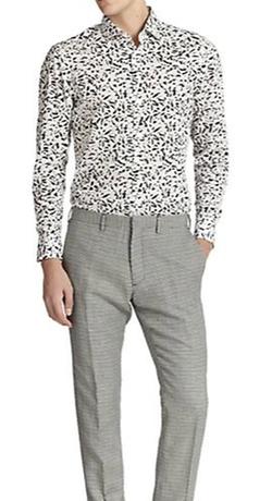 Kent and Curwen - Splinter-Print Cotton Sportshirt