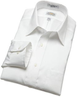 Eagle - Pinpoint Pointed Collar Non Iron Long Sleeve Dress Shirt