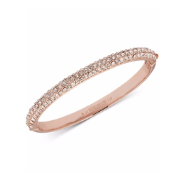 Anne Klein - Rose Gold-Tone Crystal Pavé Bangle Bracelet