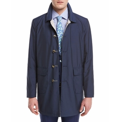 Isaia - Reversible Single-Breasted Raincoat