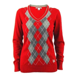 Cutter & Buck - Nebraska Cornhuskers Argyle V-Neck Sweater