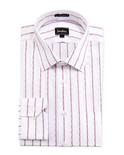 Neiman Marcus  - Classic-Fit Regular-Finish Checkered Dress Shirt,