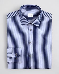 Armani Collezioni  - Ribbon Stripe Dress Shirt
