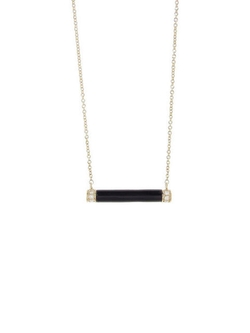 Sydney Evan - Onyx Bar Necklace