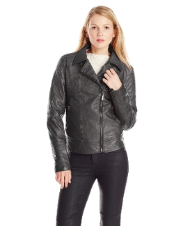 Buffalo David Bitton - Nyxie Pu Faux-Leather Moto Jacket