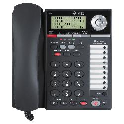 AT&T  - 993 2-Line Phone w/Caller ID Charcoal
