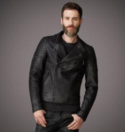 Buchanan  - Waxed Grain Leather Jacket