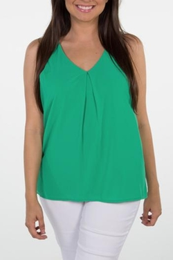 Karlie - Green Zip-Back Top