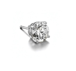 Queen Jewelers - White Gold Diamond Single Stud Earring