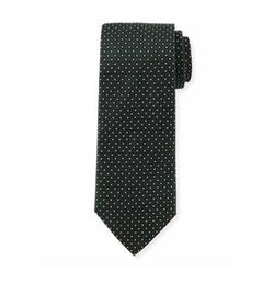 Armani Collezioni - Textured Dot-Print Silk Tie