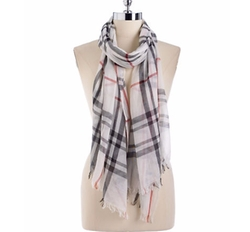 Lord & Taylor - Cotton Plaid Scarf