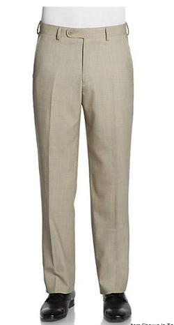 Saks Fifth Avenue BLACK - Classic-Fit Wool Screenweave Trousers
