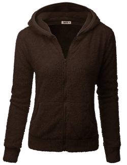 Doublju - Full-Zip Plush Fleece Thermal Hooded Jacket