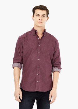 Mango - Slim Fit Cotton Oxford Shirt
