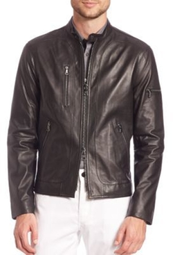 John Varvatos - Lamb Skin Moto Jacket