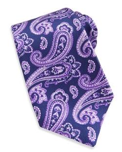 Kiton  - Large-Paisley Textured Tie