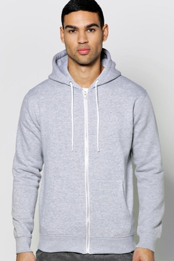 Boohooman Basics - Zip Through Hoody