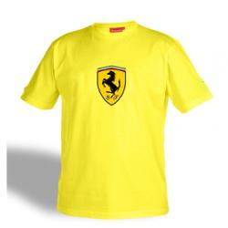 SpeedGear - Ferrari Yellow Shield Logo Tee Shirt