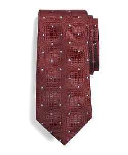 Brooks Brothers - Extra-Long Dot Repp Tie