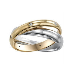 JCPenney - Womens Two-Tone Stainless Steel Rolling Ring
