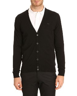 Lacoste - Lambswool Black Cardigan