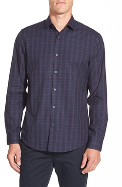 Calibrate  - Trim Fit Plaid Sport Shirt