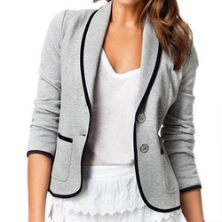 Urparcel - Womens Blazers Suit Jacket Outerwear Long Sleeve Short Coats Lapel