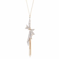 Alexis Bittar - Origami Bow Long Pendant Necklace