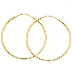 TagaDavao - Jewelry Collection Thin Hoop Earrings