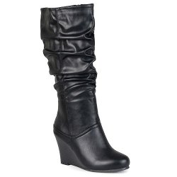 Journee Collection - Slouch Wedge Boots