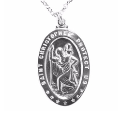 From War to Peace - Saint Christopher Pendant Necklace