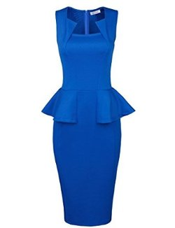 Amazon - Classy Neck Detail Sleeveless Zip-up Midi Dress