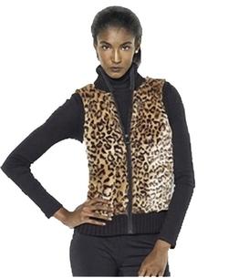 Ralph Lauren Active - Leopard Print Faux Fur Vest