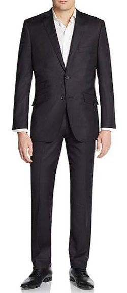 English Laundry  - Slim-Fit Tonal Hairline Striped Wool Suit