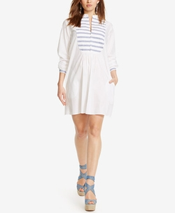 Polo Ralph Lauren - Striped-Bib Shirtdress