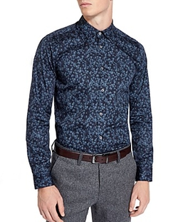 Ted Baker - Amzdog Painted Floral Button Down Shirt