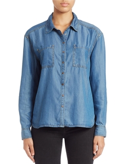 Buffalo David Bitton  - Elbow Patch Chambray Shirt